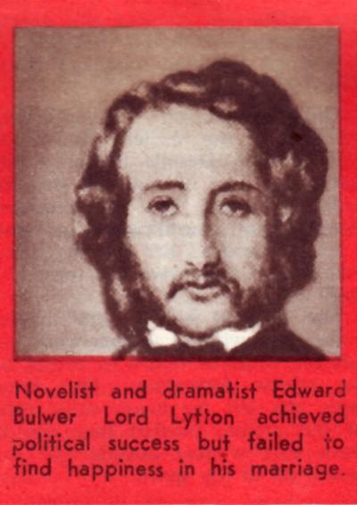 Edward Bulwer Lord Lytton